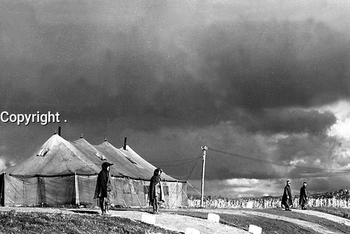 Panmunjom, Korea, the site of military armistice negotiations between representatives of the Communist forces fighting in Korea, and United Nations forces representatives.  November 1, 1951.  Capt. Edward W. Plummer.  (Army)<br /> NARA FILE #:  111-SC-383310<br /> WAR & CONFLICT BOOK #:  1515
