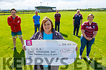 Karen West from UHK receives €1,250 from the Causeway Community Group in Causeway on Friday.<br /> Front: Karen West.<br /> Back l to r: John Martin Carroll, Henry McEnery, John Madden, Noel O'Connor and Judy Diggins.
