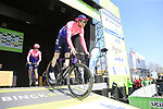 EF Education First at sign on before the 2019 E3 Harelbeke Binck Bank Classic 2019 running 203.9km from Harelbeke to Harelbeke, Belgium. 29th March 2019.<br /> Picture: Eoin Clarke | Cyclefile<br /> <br /> All photos usage must carry mandatory copyright credit (© Cyclefile | Eoin Clarke)