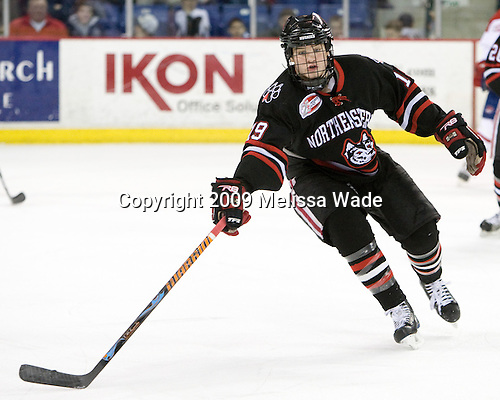 Wade MacLeod (Northeastern - 19) - The Northeastern University Huskies defeated the University of Massachusetts-Lowell Riverhawks 3-1 on Saturday, February 28, 2009, at the Paul E. Tsongas Arena in Lowell, Massachusetts.