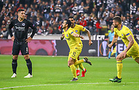 celebrate the goal, Torjubel zum 1:1 Ausgleich von Pedro Rodriguez (Chelsea FC), Luka Jovic (Eintracht Frankfurt) geschockt - 02.05.2019: Eintracht Frankfurt vs. Chelsea FC London, UEFA Europa League, Halbfinale Hinspiel, Commerzbank Arena DISCLAIMER: DFL regulations prohibit any use of photographs as image sequences and/or quasi-video.