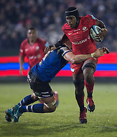 Saracens' Maro Itoje in action during todays match<br /> <br /> Photographer Bob Bradford/CameraSport<br /> <br /> Gallagher Premiership - Bath Rugby v Saracens - Friday 29th November 2019 - The Recreation Ground - Bath<br /> <br /> World Copyright © 2019 CameraSport. All rights reserved. 43 Linden Ave. Countesthorpe. Leicester. England. LE8 5PG - Tel: +44 (0) 116 277 4147 - admin@camerasport.com - www.camerasport.com