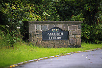 Pictured: A Narberth town sign. Tuesday 11 July 2017<br /> Re: A family of Syrian refugees will be given accommodation in Narberth, Pembrokeshire, Wales, UK.