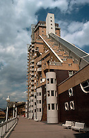 London Docklands:  The Cascades 1986-88.  Isle of Dogs.  Rex Wilkinson of Campbell Zolgolovich Wilkinson & Gough.  Photo '90.