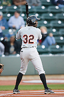 Xavier Avery #32 of the Frederick Keys at bat against the Winston-Salem Dash at  BB&T Ballpark April 28, 2010, in Winston-Salem, North Carolina.  Photo by Brian Westerholt / Four Seam Images