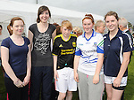 Ciara Callan, Theresa McKenna, Rebecca Levins, Tricia Keenan and Gemma Sheridan who took part in Tiarnan's fun run at Hunterstown GFC. Photo: Colin Bell/pressphotos.ie