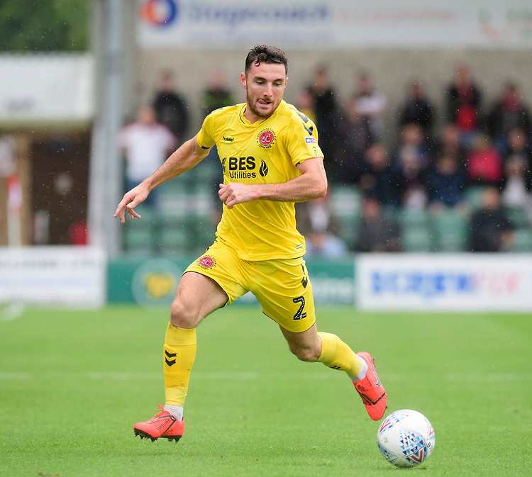 Fleetwood Town's Lewis Coyle<br /> <br /> Photographer Chris Vaughan/CameraSport<br /> <br /> The EFL Sky Bet League One - Lincoln City v Fleetwood Town - Saturday 31st August 2019 - Sincil Bank - Lincoln<br /> <br /> World Copyright © 2019 CameraSport. All rights reserved. 43 Linden Ave. Countesthorpe. Leicester. England. LE8 5PG - Tel: +44 (0) 116 277 4147 - admin@camerasport.com - www.camerasport.com