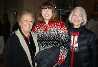 NWA Democrat-Gazette/CARIN SCHOPPMEYER Joy Drummonds (from left), Joanne Phillips and Betsy Phillips attend the reception for Mary McKiney.