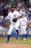 June 29, 2008: Audy Santana (37) of the Peoria Chiefs in the first ever MiLB game played at Wrigley Field in Chicago, IL.  Photo by: Chris Proctor/Four Seam Images