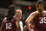Arkansas head coach Jimmy Dykes talks to his team during a timeout during the game against the Arkansas Razorbacks on Sunday, February 21, 2016 in Lexington, Ky. Kentucky won the game 77-63. Photo by Hunter Mitchell | Staff