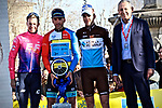 Gorka Izagirre (ESP) Astana Pro Team wins overall by just 13 hundredths of a second from Simon Clarke (AUS) EF Education First and Tony Gallopin (FRA) AG2R-La Mondiale in 3rd at the end of Stage 4 of the 2019 Tour de La Provence, running 173.3km from Avignon to Aix-en-Provence, France. 17th February 2019.<br /> Picture: SHIFT Active Media | Cyclefile<br /> <br /> <br /> All photos usage must carry mandatory copyright credit (&copy; Cyclefile | SHIFT Active Media)