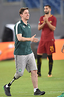 Jakson Follmann portiere della Chapecoense sopravvissuto al disastro aereo che ha battuto il calcio d'inizio <br /> Roma 01-09-2017 Stadio Olimpico Football Friendly match AS Roma - Chapecoense Foto Andrea Staccioli / Insidefoto