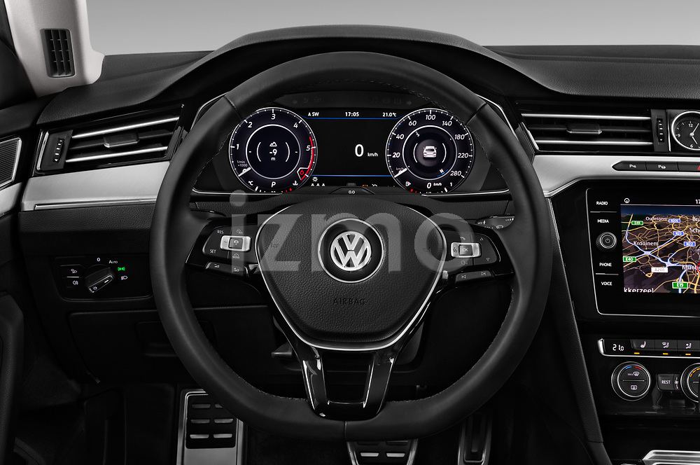 Car pictures of steering wheel view of a 2018 Volkswagen Arteon Elegance 5 Door Hatchback Steering Wheel