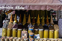Morocco, Marrakesh. Spices for sale in the Medina.