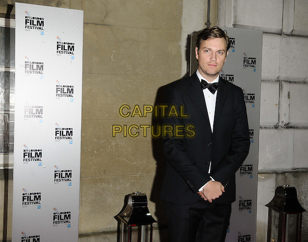 Zachary Heinzerling<br /> attended the BFI London Film Festival Awards 2013, 57th BFI London Film Festival day 11, Banqueting House, Whitehall, London, England, UK, 19th October 2013.<br /> half length black tuxedo tux bow tie <br /> CAP/CAN<br /> &copy;Can Nguyen/Capital Pictures