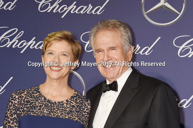 PALM SPRINGS, CA - JANUARY 02: Actors Annette Bening (L) and Warren Beatty attend the 28th Annual Palm Springs International Film Festival Film Awards Gala at the Palm Springs Convention Center on January 2, 2017 in Palm Springs, California.