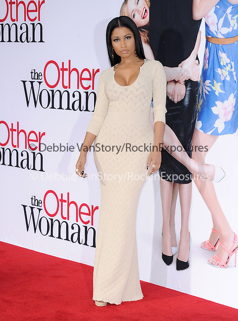 Nicki Minaj attends The Twentieth Century Fox L.A. Premiere of Th eOther Woman held at The Regency Village Westwood in Westwood, California on April 21,2014                                                                               © 2014 Hollywood Press Agency