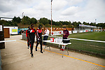Kettering players arrive at the Burton Latimer Ground. Kettering Town 1 Leiston 2, Evo Stick Southern League Premier Central, Latimer Park. Kettering Town are a famous name in non-league football. After financial problems, relegations, and relocation, the club are once again upwardly mobile. Despite losing to Leiston, Kettering finished the season as Champions and were promoted to the National League North.