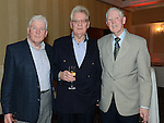 Danny McGivern celebrating his 70th birthday with his brothers Terry and Eddie in the Westcourt Hotel. Photo:Colin Bell/pressphotos.ie