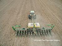 63801-10012 Farmer planting corn-aerial Marion Co. IL
