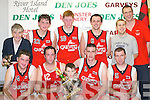 St. Marys Team that won the Division One Mens Final at the St Marys Christmas Basketball Blitz which was held in the Castleisland Community Centre on Saturday front row L/R: Niall Murphy, Darby Buckley, Daniel Kelly, Dan Griffin, Tom Fleming, Back Row: L/R: Vincent Barry, Frank Rahilly, Eamon John ODonoghue, Ruiari ORahilly, Declan Wall and Maurice Casey..