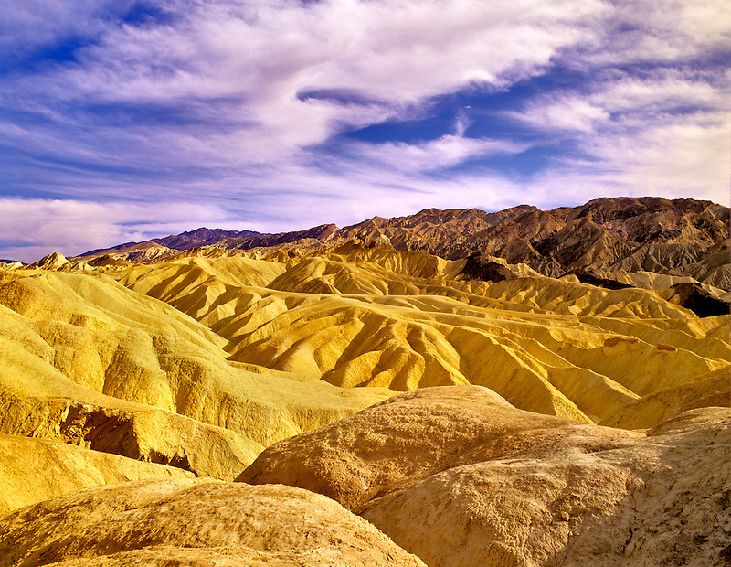 Sunset at Golden Canyon. Death Valley National Park, California