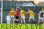 Bryan Sheehan South Kerry gets a black card in the Kerry County Senior Football Final at Fitzgerald Stadium on Sunday.
