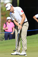Paul Dunne (IRL) putts on the 3rd green during Friday's Round 2 of the 2018 Turkish Airlines Open hosted by Regnum Carya Golf &amp; Spa Resort, Antalya, Turkey. 2nd November 2018.<br /> Picture: Eoin Clarke | Golffile<br /> <br /> <br /> All photos usage must carry mandatory copyright credit (&copy; Golffile | Eoin Clarke)