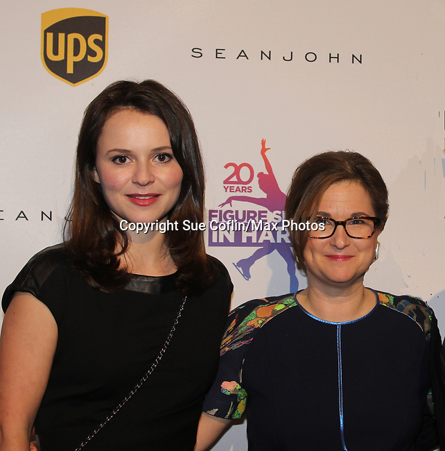 Sasha Cohen poses with founder Sharon Cohen - Figure Skating in Harlem celebrates 20 years - Champions in Life benefit Gala on May 2, 2017 honoring Sasha Cohen.  (Photo by Sue Coflin/Max Photos)