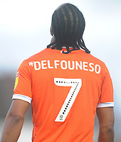 Blackpool's Nathan Delfouneso<br /> <br /> Photographer Kevin Barnes/CameraSport<br /> <br /> The EFL Sky Bet League One - AFC Wimbledon v Blackpool - Saturday 29th December 2018 - Kingsmeadow Stadium - London<br /> <br /> World Copyright &copy; 2018 CameraSport. All rights reserved. 43 Linden Ave. Countesthorpe. Leicester. England. LE8 5PG - Tel: +44 (0) 116 277 4147 - admin@camerasport.com - www.camerasport.com