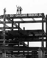 Construction workers cheer for Raiders in SBXVII..photo by Ron Riesterer
