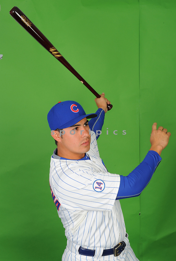 Chicago Cubs Christian Villaneuva (61) during photo day on March 2, 2015 in Mesa, AZ.