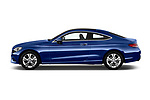 Car Driver side profile view of a 2017 Mercedes Benz C-Class C300 2 Door Coupe Side View