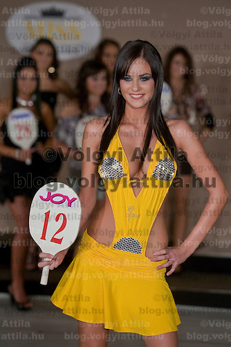 Dorottya Farsang placed second in the Miss Hungary beauty contest held in Budapest, Hungary. Saturday, 19. December 2009. ATTILA VOLGYI
