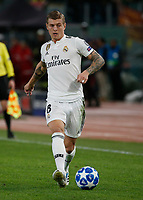 Toni Kroos of Real Madrid  during the Champions League Group  soccer match between AS Roma - Real Madrid  at the Stadio Olimpico in Rome Italy 27 November 2018