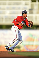 Fort Myers Miracle second baseman Aderlin Mejia (13) during a game against the Tampa Yankees on April 15, 2015 at Hammond Stadium in Fort Myers, Florida.  Tampa defeated Fort Myers 3-1 in eleven innings.  (Mike Janes/Four Seam Images)