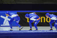 SCHAATSEN: HEERENVEEN: 04-10-2014, IJsstadion Thialf, Trainingswedstrijd, ©foto Martin de Jong