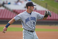 Lake County Captains outfielder Taylor Murphy (9) warms up prior to a Midwest League game against the Wisconsin Timber Rattlers on June 3rd, 2015 at Fox Cities Stadium in Appleton, Wisconsin. Wisconsin defeated Lake County 3-2. (Brad Krause/Four Seam Images)