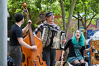 Musicians performing at Northwest Folklife Festival 2016, Seattle Center, Washington, USA.