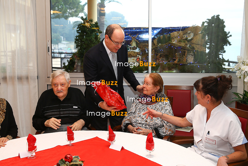 Prince Albert Offers Gifts To Old People At Cap Fleuri Nursing Home