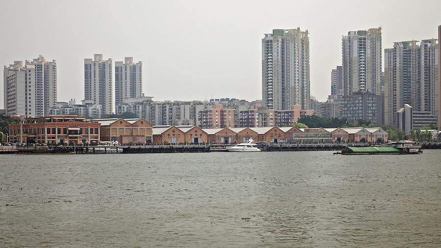 Butterfield & Swire's China Navigation Company Warehouses On The Back Reach From The Opposite Bank Of The Pearl River, Guangzhou (Canton).