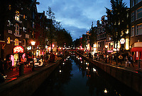 General view of the Red Light District in Amsterdam,Netherlands. Photo by Paulo Amorim