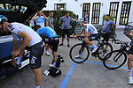 Team Sky morning training ride before Stage 1 of the La Vuelta 2018, an individual time trial of 8km running around Malaga city centre. Mijas, Spain. 23rd August 2018.<br /> Picture: Eoin Clarke | Cyclefile<br /> <br /> <br /> All photos usage must carry mandatory copyright credit (&copy; Cyclefile | Eoin Clarke)