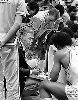 Golden State Warrior coach John Bach on the sideline.<br />