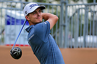 Blayne Barber (USA) watches his tee shot on 17 during round 2 of the Valero Texas Open, AT&amp;T Oaks Course, TPC San Antonio, San Antonio, Texas, USA. 4/21/2017.<br /> Picture: Golffile | Ken Murray<br /> <br /> <br /> All photo usage must carry mandatory copyright credit (&copy; Golffile | Ken Murray)