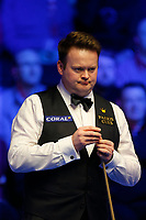 29th February 2020; Waterfront, Southport, Merseyside, England; World Snooker Championship, Coral Players Championship; Shaun Murphy (ENG) lines up his shot during tonight's semi final match versus Yan Bingtao (CHN)