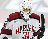The Harvard University Crimson tied the visiting Dartmouth College Big Green 3-3 in both team's first game of the season on Saturday, November 1, 2014, at Bright-Landry Hockey Center in Cambridge, Massachusets.