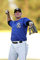 August 30 2009: Jay Brossman of the Rancho Cucamonga Quakes during game against the Stockton Ports at The Epicenter in Rancho Cucamonga,CA.  Photo by Larry Goren/Four Seam Images