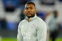 4th January 2020; King Power Stadium, Leicester, Midlands, England; English FA Cup Football, Leicester City versus Wigan Athletic; Wes Morgan of Leicester City during the pre-match warm-up - Strictly Editorial Use Only. No use with unauthorized audio, video, data, fixture lists, club/league logos or 'live' services. Online in-match use limited to 120 images, no video emulation. No use in betting, games or single club/league/player publications