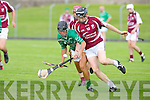 Ballyduff's Barry O'Grady and Causeway's Colm Harty fight for the ball at Austin Stack park, Tralee on Saturday.